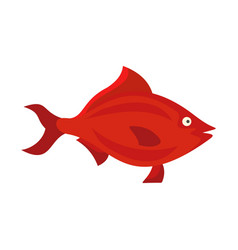 Fish icon flat style vector