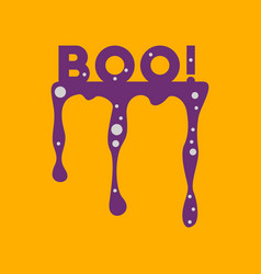 Flat icon on background halloween boo vector