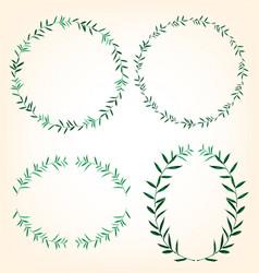 foliage border set vector image