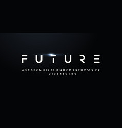 future style font bold letters and numbers vector image