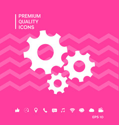 Gears wheel - settings icon vector