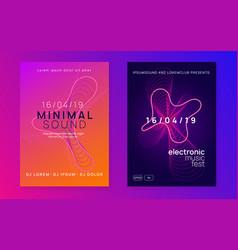 Gradient party flyer electro dance music vector