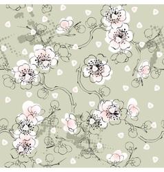 Green sakura pattern vector