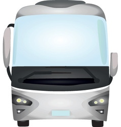grey bus vector image
