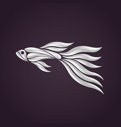 Guppy fish logo icon design vector