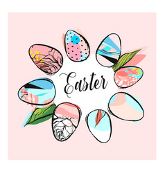 Hand drawn abstract creative texture easter vector