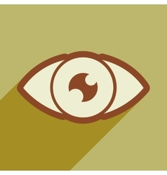 Icon of human eye in flat style vector image