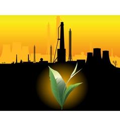 industrial Landscape vector image
