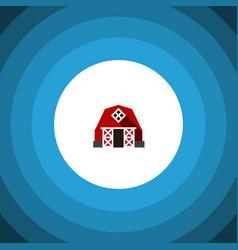 Isolated barn flat icon farmhouse element vector