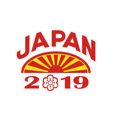 japan 2019 icon vector image