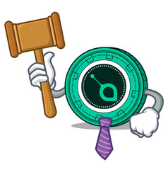 Judge siacoin mascot cartoon style vector