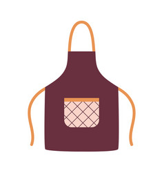 Kitchen apron with pocket isolated on white vector
