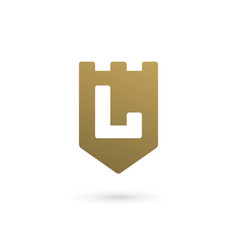 Letter l shield logo icon design template elements vector