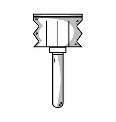 Line meat mallet kitchen utensil that used to cook vector