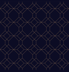 luxury geometric seamless ornamental background vector image