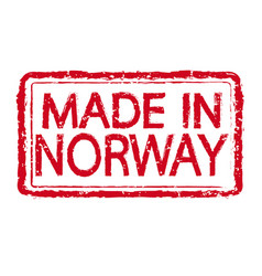 Made in norway stamp text vector