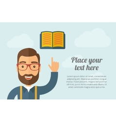 Man pointing the book icon vector image
