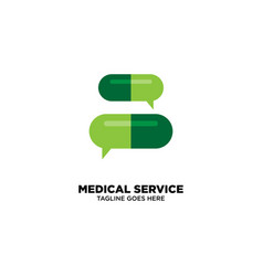 Medical service logo template vector