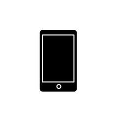 mobile phone black glyph icon vector image
