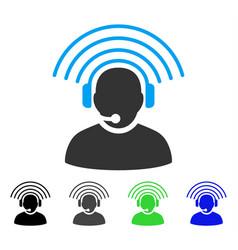 Operator radio signal flat icon vector