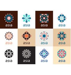 Oriental geometric symbols vector