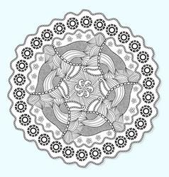ornamental mandala circle lace ornament pattern vector image