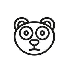 panda icon on white background vector image