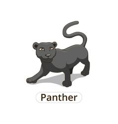 Panther african savannah cartoon vector image