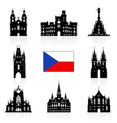 Prague czech republic vector