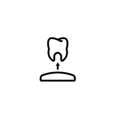 remove care gum tooth dental icon in black vector image