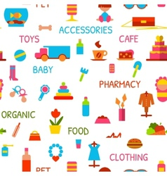 Seamless pattern with consumer goods vector