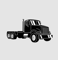 semi truck outline lorry freight vector image