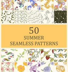 Set 50 seamless retro vector