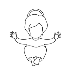 Silhouette picture of baby jesus vector