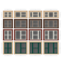 Single hung praire style composite window set in vector