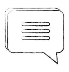 Speech bubble isolated icon vector