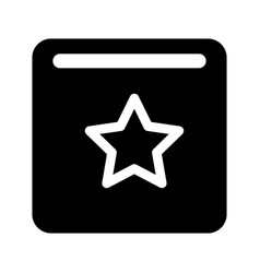 star favorite button vector image