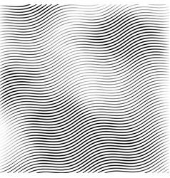 stripe wavy lines monochrome wavy texture vector image