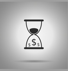 Time is money icon hourglass and dollar symbols vector