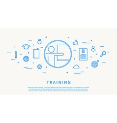 training concept infographic thin line design vector image