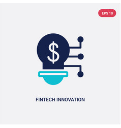 Two color fintech innovation icon from general-1 vector