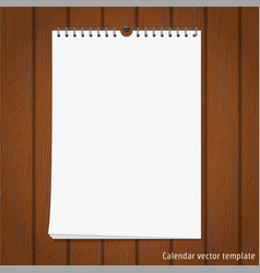 Wall Calendar mock up vector