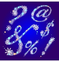 winter signs with snowflakes vector image