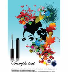 woman with mascara vector image