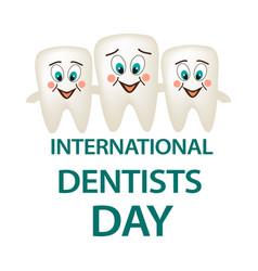 world dental day international dentist day a vector image