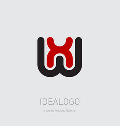 wx or xw - design element or icon initial vector image