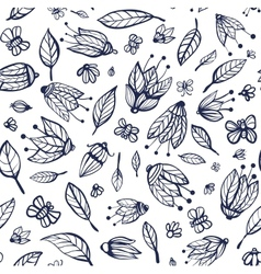 Flowers Ornament Seamless Pattern vector image vector image