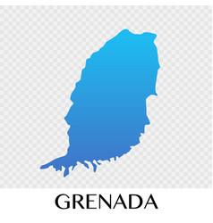 grenada map in north america continent design vector image
