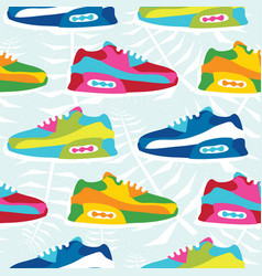 hand drawn cartoon style hipster sneaker shoes vector image vector image