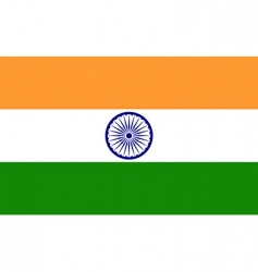 india flag vector image vector image